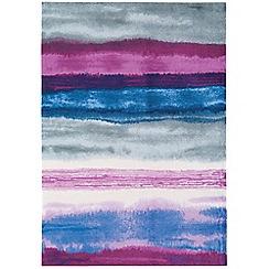 Debenhams - Pink 'Boca Oslo' rug