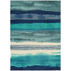 Debenhams - Blue 'Boca Oslo' rug