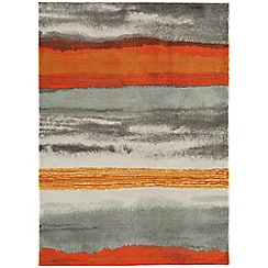 Debenhams - Orange 'Boca Oslo' rug