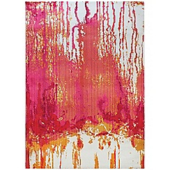 Debenhams - Red 'Colores Drizzle' rug