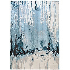 Debenhams - Blue 'Colores Drizzle' rug