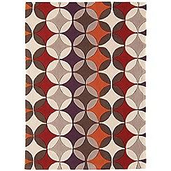 Debenhams - Beige 'Harlequin Spectrum' rug