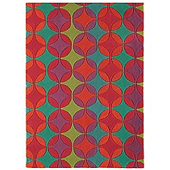 Debenhams - Multi-coloured 'Harlequin Spectrum' rug