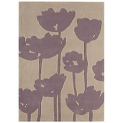 Debenhams - Purple 'Harlequin Poppy Field' rug