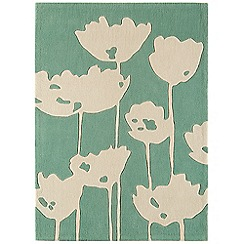 Debenhams - Green 'Harlequin Poppy Field' rug
