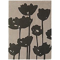 Debenhams - Black 'Harlequin Poppy Field' rug