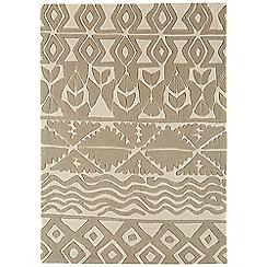 Debenhams - Beige 'Harlequin Aztec' rug