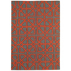 Debenhams - Red 'Harlequin Aphinity' rug