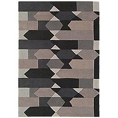 Debenhams - Grey 'Harlequin Zigzag' rug