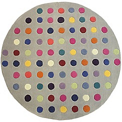 Debenhams - Multi-coloured wool 'Funk Spotty' rug