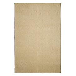 Plantation Rugs - Yellow wool 'Illusory' rug