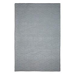 Plantation Rugs - Light grey wool 'Illusory' rug