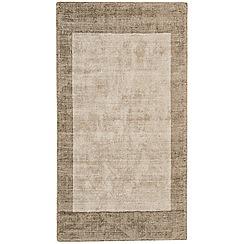 Debenhams - Beige 'Blade Border' rug