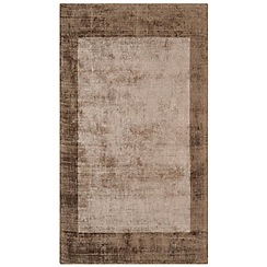 Debenhams - Brown 'Blade Border' rug