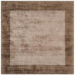 Debenhams - Brown square 'Blade Border' rug