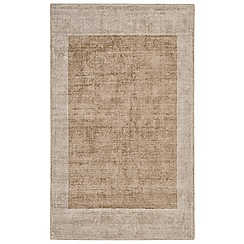 Debenhams - Cream 'Blade Border' rug
