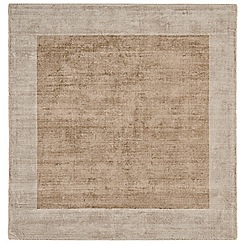 Debenhams - Cream square 'Blade Border' rug