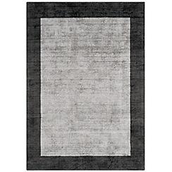 Debenhams - Grey 'Blade Border' rug