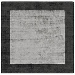 Debenhams - Grey square 'Blade Border' rug
