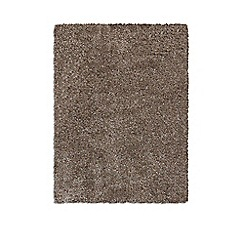 Debenhams - Taupe 'Purity Textures' rug