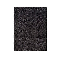 Debenhams - Dark grey 'Purity Textures' rug