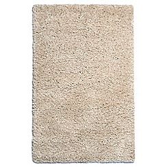 Debenhams - Cream 'Purity Textures' rug