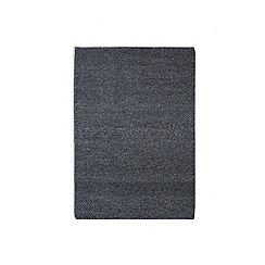 Debenhams - Dark grey woollen 'Loopy Tunes' rug