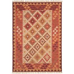 Debenhams - Woollen 'Traditional Harlequin Kelim' rug