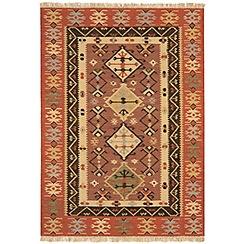 Debenhams - Woollen 'Traditional Tribal Kelim' rug