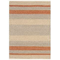 Debenhams - Orange woollen 'Fields' rug