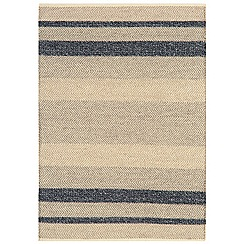 Debenhams - Dark blue woollen 'Fields' rug