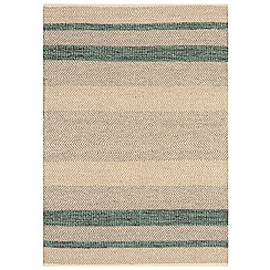 Debenhams - Green woollen 'Fields' rug