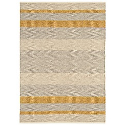 Debenhams - Yellow woollen 'Fields' rug