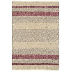 Debenhams - Red woollen 'Fields' rug