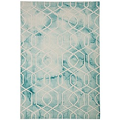 Debenhams - Light blue wool 'Fresco Trellis' rug