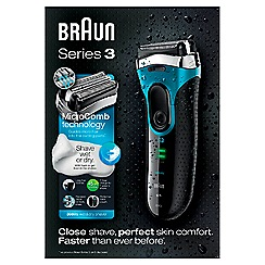 Braun - Series 3 wet & dry electric foil shaver 3080