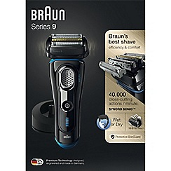Braun - Series 9 wet & dry electric shaver with charging stand 9240S