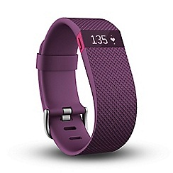 Fitbit - Large plum 'Charge HR' wireless heart rate and activity wristband FB405PML