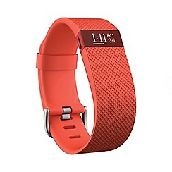 Fitbit - Tangerine 'Charge HR' wireless heart rate and activity wristband FB405TA
