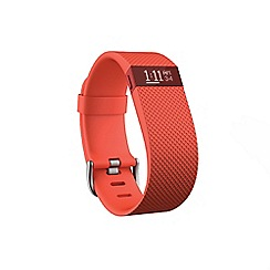 Fitbit - Small tangerine 'Charge HR' wireless heart rate and activity wristband FB405TAS