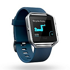Fitbit - Blue 'Blaze' smart fitness watch FB502SBU