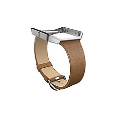 Fitbit - Camel leather 'Blaze' replacement wristband FB159LBCM