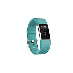 Fitbit - Teal 'Charge 2' wireless activity and heart rate tracker FB407STEL-EU