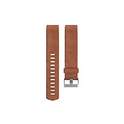 Fitbit - Brown 'Charge 2' leather accessory fitness wristband