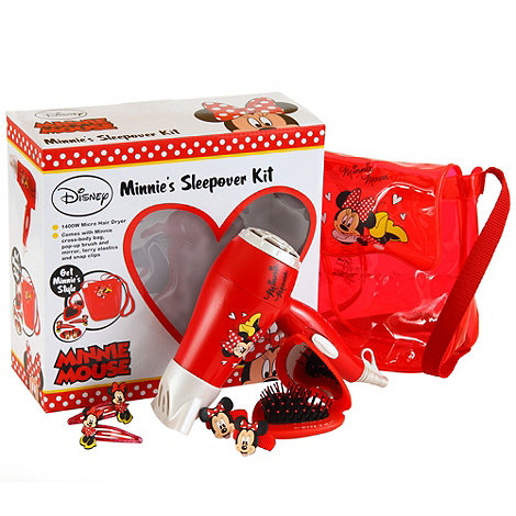 Disney - Minnie Mouse hair dryer sleepover gift set MMGS03
