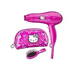 Hello Kitty - Pink 5248HKBFU hair dryer gift set