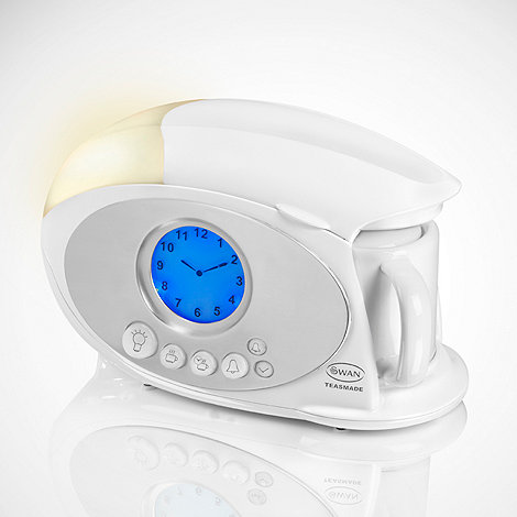 Swan - White tea maker alarm clock