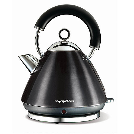 Morphy Richards - Black +Accents+ traditional kettle 43776