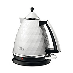 DeLonghi - White 'Brillante' kettle KBJ3001.W