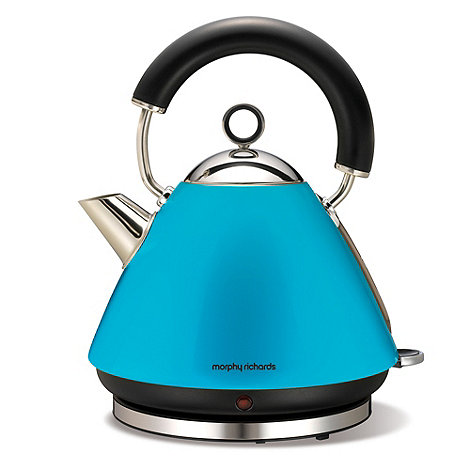 Morphy Richards - Cyan blue accents traditional kettle 43829